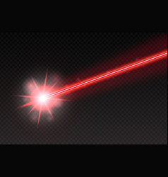 abstract red laser beam magic neon light lines vector image