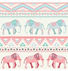 Animal seamless pattern of elephant vector