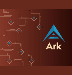 Background of ark cryptocurrency circuit vector