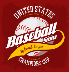Ball for american sport baseball game logo vector
