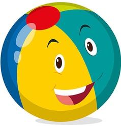 Beach ball with happy face vector