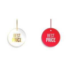 Best price circle banners vector