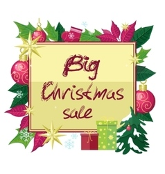 Big Christmas Sale Flat Style Concept vector