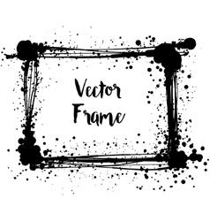 Black ink photo frame vector image