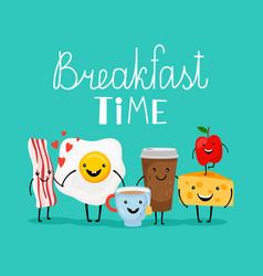 breakfast food time vector image