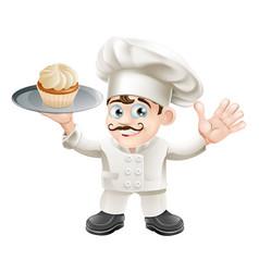 Cake baker vector