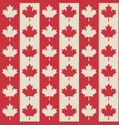 Canadian flag symbols seamless pattern vector