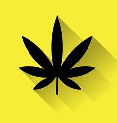 Cannabis marijuana icon vector