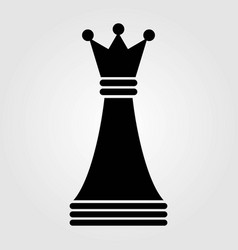 chess queen icon isolated on white background vector image