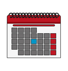 Color silhouette cartoon calendar with indicated vector