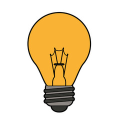colorful silhouette light bulb on icon vector image