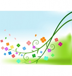 curly branches vector image