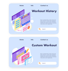 custome workout program and exercise schedule vector image