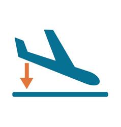 departure landing plane icon simple vector image