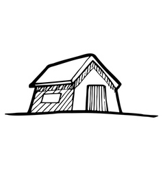Detached house vector image