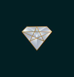 diamond logo design icon vector image