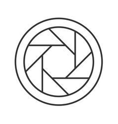 Diaphragm linear icon vector