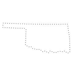 Dot stroke oklahoma state map vector