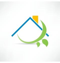 Eco home icon vector image