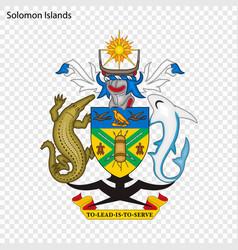 emblem of solomon islands vector image