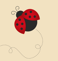 Flying lady bug vector