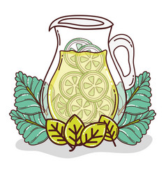 Fresh lemonade jar vector