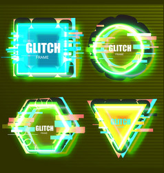 glitch effects in minimal style vector image