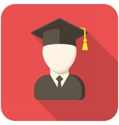 Graduate icon vector