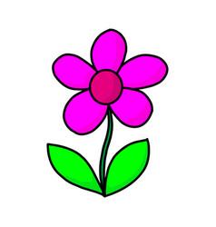 Graphical flower black flower contour flower vector