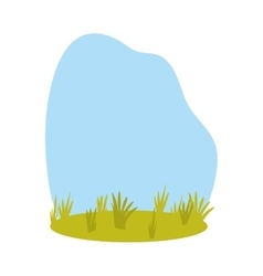 Grass and blue sky background icon image vector