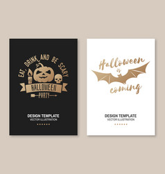 halloween is coming poster flyer template vector image