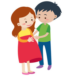 Husband and pregnant wife vector
