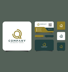 initial letter q logo design and business card vector image