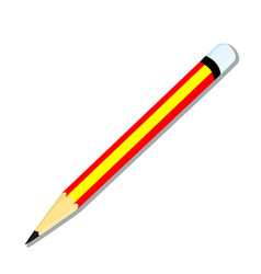 isolated of pencil vector image