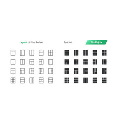 layout ui pixel perfect well-crafted thin vector image