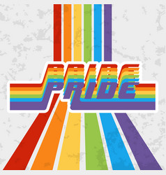 Lgbt pride typography design for poster flyer vector