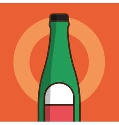 Liquor drink bottle vector