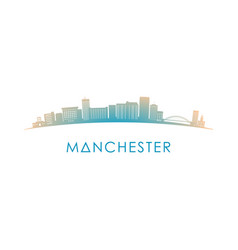 manchester new hampshire skyline silhouette vector image