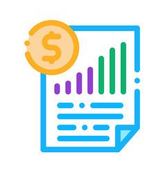 Monetary statement document icon outline vector