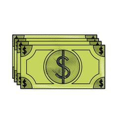 money bills isolated vector image