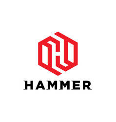 monogram initial h logo vector image