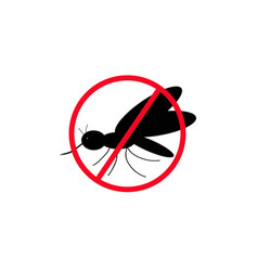 No mosquitoes the black silhouette a mosquito vector