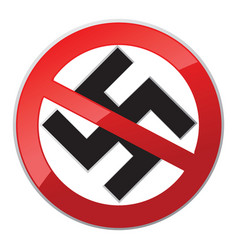 no nazi icon vector image