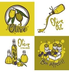 Olive Design Concept vector