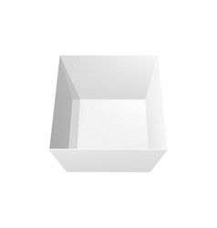 open box 3d mockup top view package vector image