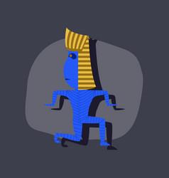 Paper sticker on stylish background mummy vector