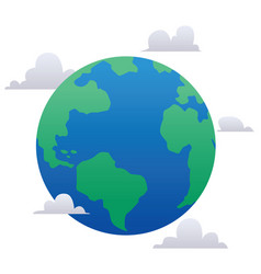 planet earth flat design vector image
