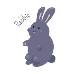 Rabbit isolated Domestic pets Sticker for kids vector
