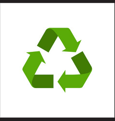 recycle sign isolated on white vector image