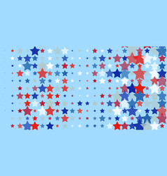 Red blue white stars on light blue vector